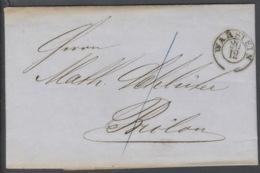 Preußen Brief Mit Barfreimachung Warstein 20.12.1855 - Preussen (Prussia)