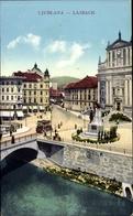 Cp Ljubljana Laibach Slowenien, Stadtteilansicht, Brückenpartie - Slowenien