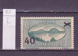 Guadeloupe 1943-44 Y&T N°165 - Michel N°(?) * - 40cs35c La Rade De Saintes - Guadeloupe (1884-1947)