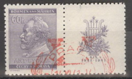 Böhmen Und Mähren Zusammendruck W Zd 17 O - Böhmen Und Mähren