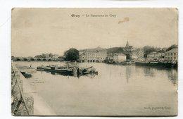 CPA   70 : GRAY  Port Avec Péniches  VOIR  DESCRIPTIF §§§ - Gray