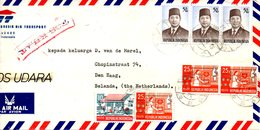 INDONESIE. N°705 De 1974 Sur Enveloppe Ayant Circulé. Président Suharto. - Indonesia