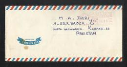 Canal Zone Panama 1978 Meter Mark Air Mail Postal Used Cover To Pakistan - Panama