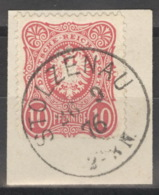 Deutsches Reich 33 O Briefstück Nachverw. Hannover-Stempel Stolzenau - Oblitérés