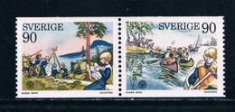 Sweden 1137-38 MLH Pair Set Boy Scouts 1975 CV 1.25 (S0759)+ - Suède