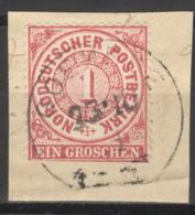 Norddeutscher Postbezirk 16 O Briefstück Nachverw. Hannover-Stempel Göhrde - Conf. De L' All. Du Nord