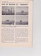 Marine Marchande-Compagnie Maritime Belge-naufrage M/V Mahenge-30/6/1952-radio Neptune N°4-1952 - Vieux Papiers
