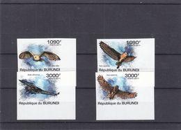 Hiboux  - Burundi - COB 1310 / 3 ** - NON Dentelés - Valeur 37 Euros - Burundi