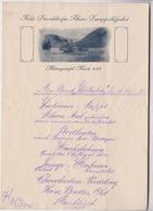 Köln Düsseldorfer Rhein Dampfschiffahrt  Mittagstafel Mark  / MENU En 1909 - Menus
