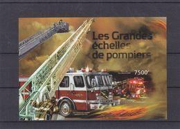 Pompiers  - Burundi - COB BF 445 ** - NON Dentelé - Les Grandes échelles De Pompiers - Valeur 35 Euros - Burundi