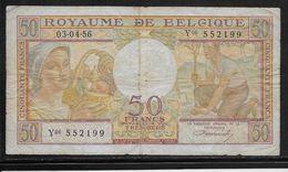 Belgique - 50 Francs  - 3-4-1956 - Pick N°133 - TB - [ 2] 1831-... : Royaume De Belgique