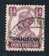 Pakistan 2 Used King George VI Overprint (BP248) - Pakistan