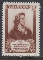 USSR 1955 - Friedrich Von Schiller, Deutscher Dichter, Mi-Nr. 1759, MNH** - 1923-1991 URSS