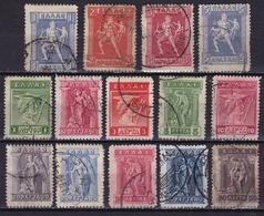 GREECE 1911-12 Hermes Engraved Issue Set To 5 Dr. Vl. 212 / 225 - Griekenland