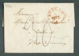 LAC De BERGEN (MONS - BELGIQUE) Le 3 Septembre 1830 Vers Ettelbruck Via Luxembourg (type Hollandais) - 35 Centimes. - 13 - Luxembourg