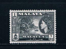 Malaya Melacca 56 MNH Beach QEII (M0244)+ - Malacca