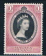 Malaya Penang 27 MNH Coronation Issue  CV 1.75 (M0246) - Penang