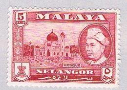 Malaya Solangor 105 Used Sultan Hisamud Din Shah (BP2328) - Selangor
