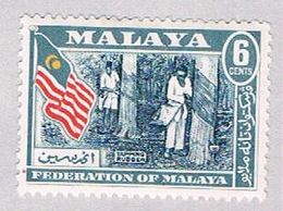 Malaya Federation 80 MLH Rubber Tapping CV 1.00 (BP2249) - Fédération De Malaya