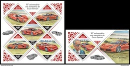 GUINEA BISSAU 2018 **MNH Enzo Ferrari Cars Autos Voitures M/S+S/S - OFFICIAL ISSUE - DH1844 - Voitures