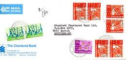 INDONESIE. Timbres De 1969 Sur Enveloppe Ayant Circulé. Plan Quinquennal. - Indonesia