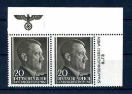 Z58195)GG 77 ER-Paar Mit Platten-Nr. + Hoheitszeichen** - Besetzungen 1938-45