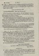 1833- Ordonnance N°5038 Du Roi Fixation De La Taxe à Percevoir Sur La Correspondance De Boulogne Par Estafette - Marcophilie (Lettres)