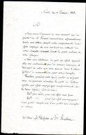 030119002.1849  Lettre D'un Marchand Annoncant L'arrivée Du Timbre A Ses Client - 1849-1850 Cérès