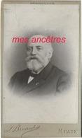 CDV Famille LEBE-GIGUN 4/5-Edouard Lebe-Gigun âgé-Inspecteur Général Des Ponts Et Chaussées-photo  Bruand à Meaux - Old (before 1900)