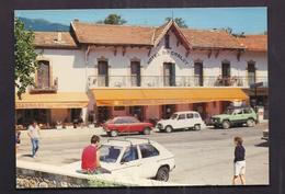 CPSM 30 - GENOLHAC - HOTEL DU CHALET - Bar Restaurant - TB PLAN Devanture Etablissement - AUTOMOBILES ANIMATION - France