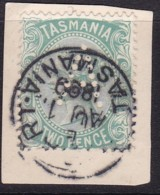 Tasmania 1878 P.14 SG 157a Used Perf A - 1853-1912 Tasmania