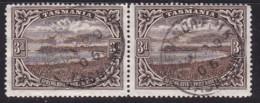 Tasmania 1900 P 14 SG 233 Used Perfin T - 1853-1912 Tasmania