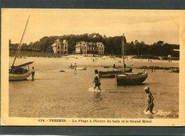 CPA - TREZHIR - La Plage à L'heure Du Bain Et Le Grand Hôtel, Animé - Frankreich