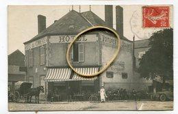Carte Photo 28 : TOURY   Hotel Du Commerce Très Animé    A  VOIR  !!!!!!! - Autres Communes