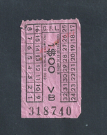 PORTUGAL TICKET DE TRANSPORT BUS OU TRAMWAY ? AVEC PUB : - Bus