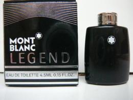"""MONT BLANC""""LEGEND"""" MINI EDT 4,5 ML   LIRE ET VOIR!! - Miniatures Modernes (à Partir De 1961)"""