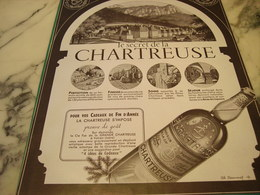 ANCIENNE PUBLICITE GRANDE CHARTREUSE VERTE OU JAUNE  1951 - Alcohols