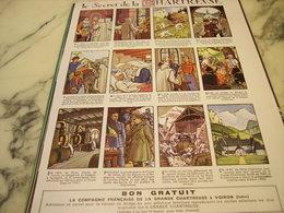 ANCIENNE PUBLICITE LIQUEUR GRANDE CHARTREUSE HISTOIRE SECRETE   1953 - Publicités