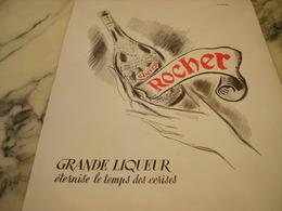 ANCIENNE PUBLICITE  CHERRY ROCHER DIGESTIF 1950 - Affiches