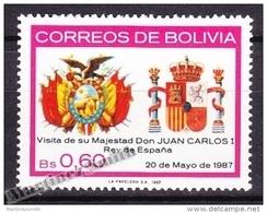 Bolivia - Bolivie 1987 Yvert 682, Visit Of H.M. King Of Spain Juan Carlos - MNH - Bolivie