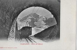 JUNGFRAUBAHN → Zug Beim Tunnelausgang Gegen Den Mönch Ca.1900 - BE Bern