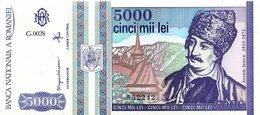 Romania 5000 Lei 1993 Pick 104 UNC - Roumanie