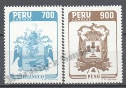 Peru / Perou 1986 Yvert 820-21, Cities, Coat Of Arms - MNH - Peru
