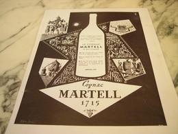 ANCIENNE AFFICHE PUBLICITE COGNAC  MARTELL 1951 - Alcohols