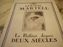 ANCIENNE PUBLICITE COGNAC 2 SIECLE MARTELL 1931 - Alcohols