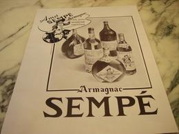 ANCIENNE PUBLICITE ARMAGNAC SEMPE 1946 - Alcohols