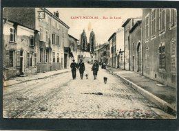 CPA - SAINT NICOLAS - La Rue De Laval, Animé - Saint Nicolas De Port