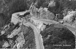 SUSTENSTRASSE  → Altes Saurer-Postauto Bei Der Wendeplatte, Fotokarte Anno 1955 - BE Bern