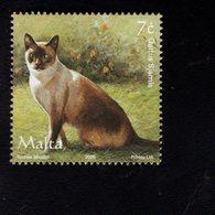 693919549 MALTA POSTFRIS MINT NEVER HINGED POSTFRISCH EINWANDFREI SCOTT 1238D SIAMESE CAT - Malte