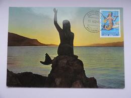 CARTE MAXIMUM CARD BIENVENUE A KALYMNOS GRECE - Sculpture